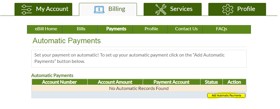 Screenshot of the AutoPay home page